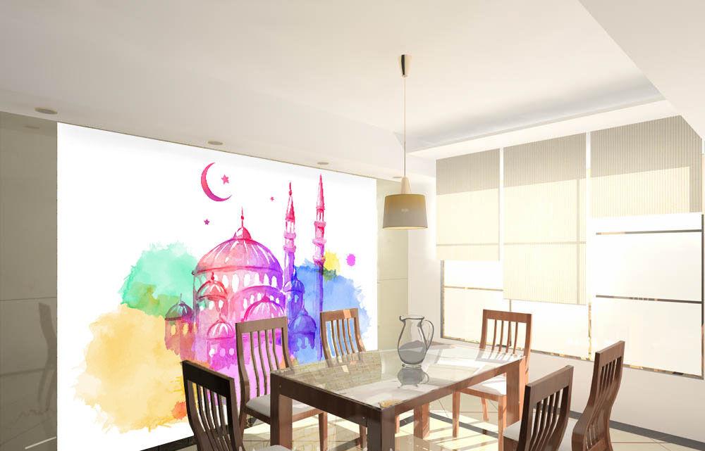 3D Islamic fresh 1 WallPaper Murals Wall Print Decal Wall Deco AJ WALLPAPER