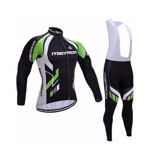 Merida BIKE abbigliamento maschile manica lunga ciclismo in jersey pants//Bib KIT