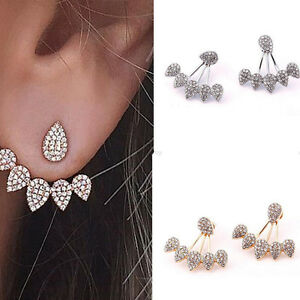 Women-Crystal-Gold-Silver-Elegant-Charm-Earrings-Ear-Stud-Fashion-Jewelry-CH