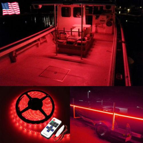 LED Boat Light Red Marine Deck Waterproof 12V 5M Bow Trailer Pontoon Lights Kit