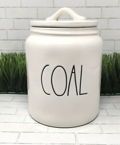 New Rae Dunn Artisan Collection COAL Canister Cookie Jar Christmas By Magenta
