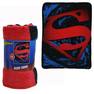New Superman Rip Shield Super Soft Micro Raschel Large Blanket