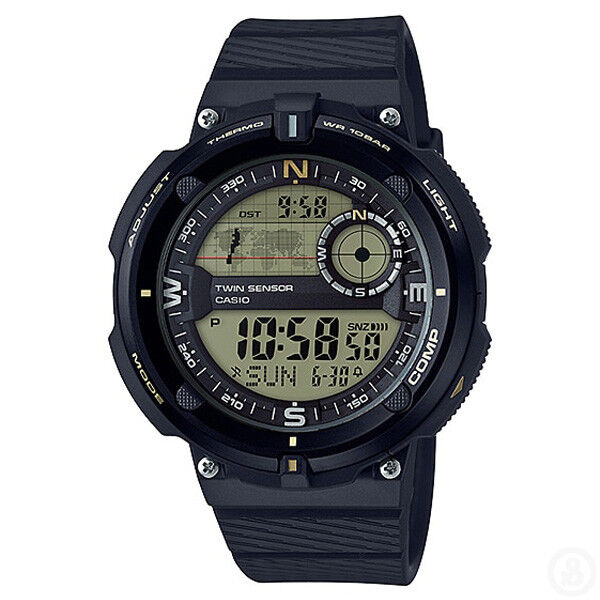 CASIO OutGear Twin Sensor Compass Thermometer World Time Watch SGW-600H-9A