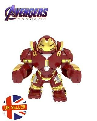 Red Iron Man Hulk Buster Avengers Hero Set Figure Lego Fit End Game UK Seller
