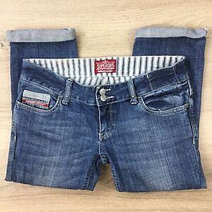 Superdry-Denim-Capri-Cropped-Women-039-s-Jeans-Size-28-L20-X5