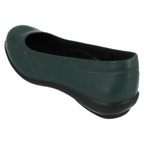 Ladies Easy B Red Green Slip On Leather Casual Shoes Honiton