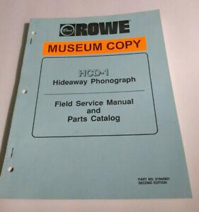 Rowe HCD-1 Hideaway CD Jukebox Manual | eBay