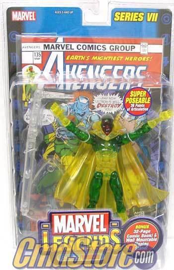 Marvel - legenden actionfiguren - serie 7  phasing - vision - variante