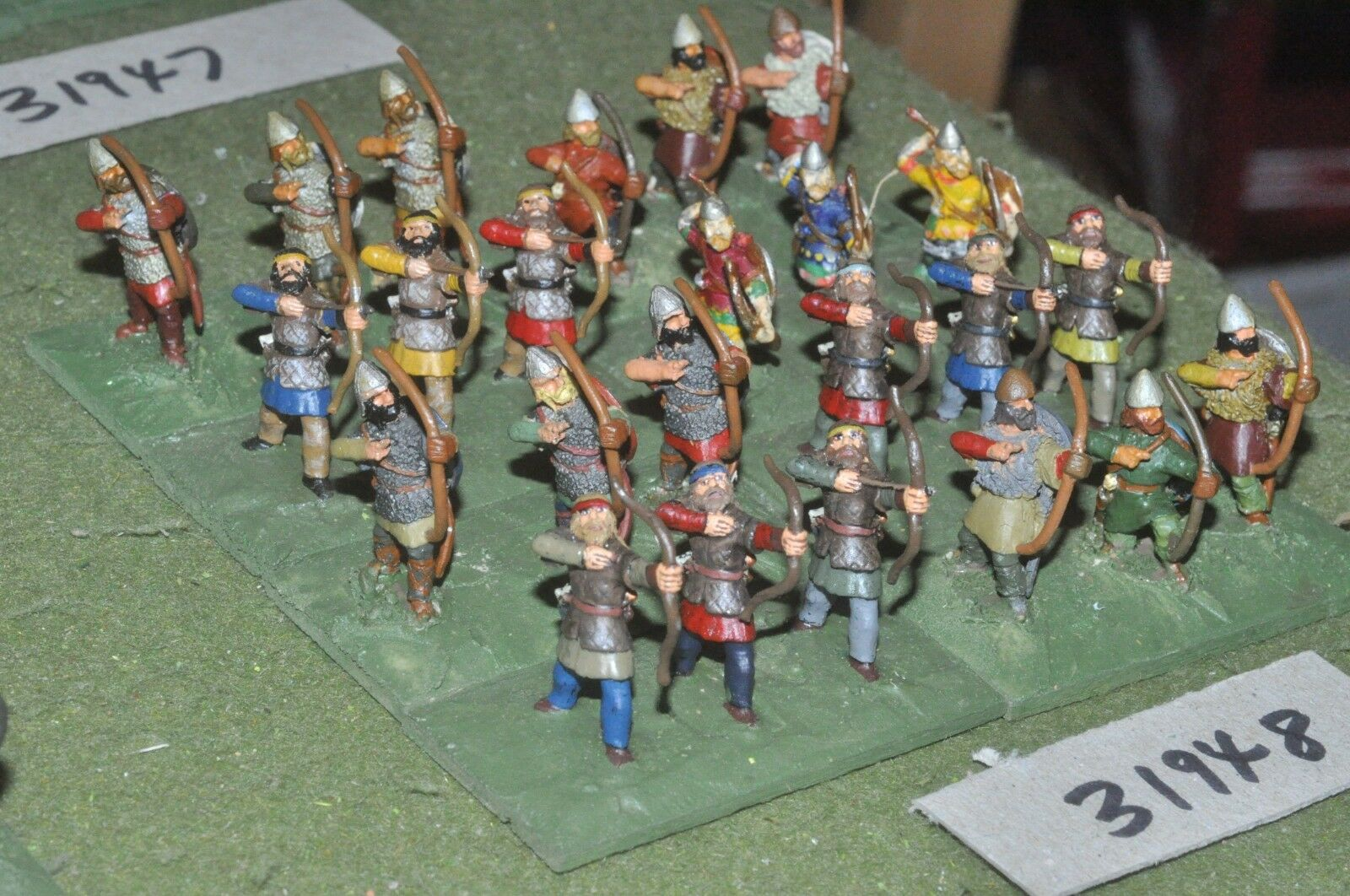 25mm dark ages   viking - archers 24 figures - inf (31948)