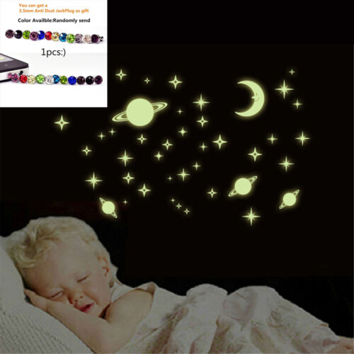 Kids Child Living Room Cartoon Starry Star Luminous Wall Stickers Decor GIFT
