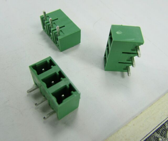 20 Phoenix Contact Male Pin Shrouded Headers MC 1,5// 3-G-5,08 1836192 8A 300V