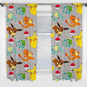 Pokemon-PIKATCHU-pokemons-CATCH-rideaux-Tentures-enfants-183-x-168-CM-NEUF
