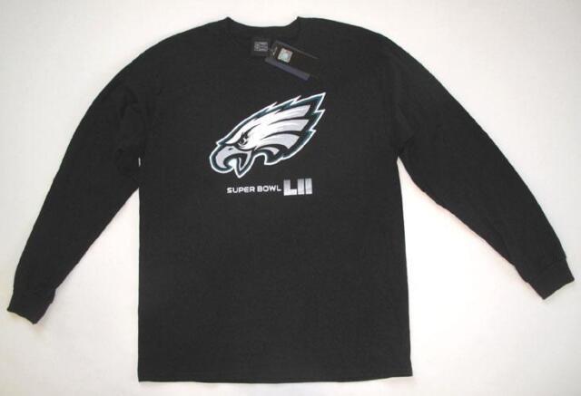 cc6c89158 Fanatics Philadelphia Eagles SUPER BOWL LII Black Long Sleeve T-SHIRT Large