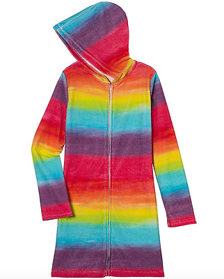 Girls Bathrobe Swim Terry Cloth Hooded Bathrobe 100/% Cotton Terry Swim Cover up