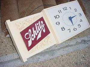 Schlitz beer sign clock | eBay