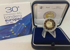 PIECE 2 EURO BE COMMEMORATIVE ITALIE 2015 DRAPEAU EUROPEEN ITALIEN PP PROOF