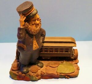 Tom Clark Gnome  1986 Pullman Edition 1133  #79 Railroad-- Retired