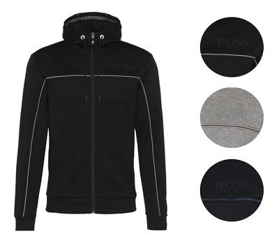 New Hugo Boss Men/'s Premium Zip Up Sport Hooded Sweatshirt Track Jacket 50372060