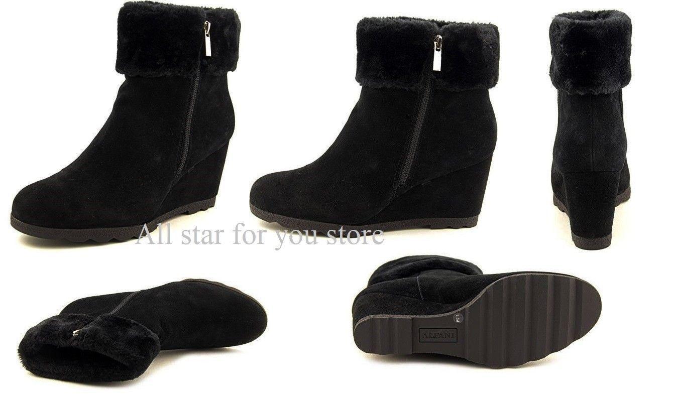 Alfani Women's Women's Women's Boots Oreena Suede Winter Boots Ankle Boot  9.5 M b35474