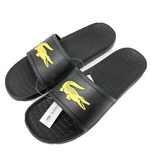 Lacoste Men's Size 11 Fraisier Slide Sandals Black New