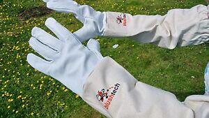 Beekeeper-Gloves-Beekeeping-Bee-gloves-100-Leather-amp-Cotton-Zean-gloves-MEDIUM