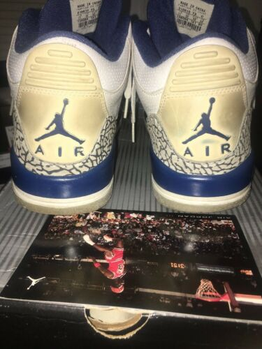 3 Air Retro Blue Sz Card Jordan Pp Og 11 True Stance Authentic F1lJT3Kc