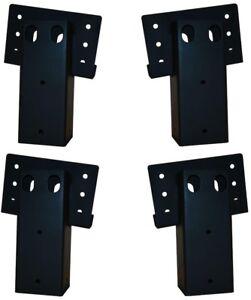 Double Angle Brackets Heavy Duty 12-Gauge Steel Platform Elevator 4-Set 4x4 in