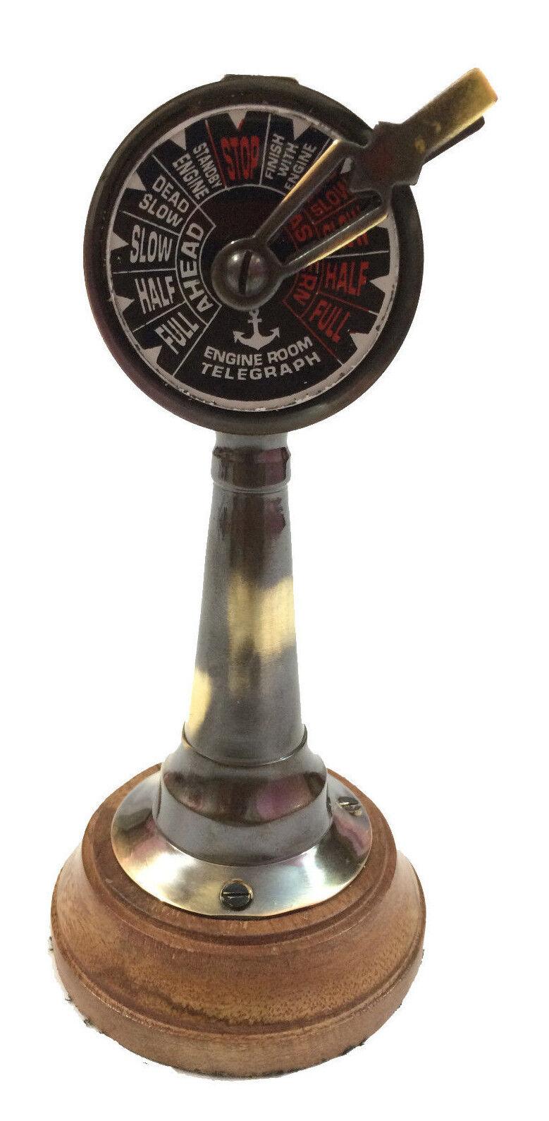 Battleship Engine Room: Nautical Antique Marine Telegraph Ship Engine Room