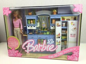 Image Is Loading Barbie Play All Day Kitchen Gift Set Includes