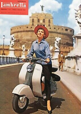 "Size A2 Wall Art Reproduction Vintage Italian /""Lambretta/"" Poster"