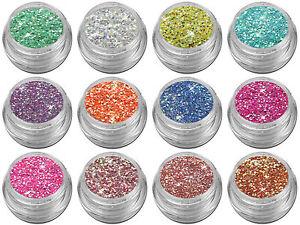 Mix Glitter Glitzer Puder Pailletten Pulver Nail Art Nagel Design Rot Pink Rosa