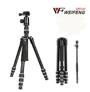weifeng WF6610 AE Tripods Monopods Ball Head +Bag for camera vidicon telescope$