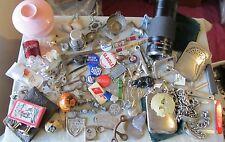 Collection Vintage JACK KNIVES Military GUN Lens CUFFLINKS Keys JUNK DRAWER Lot