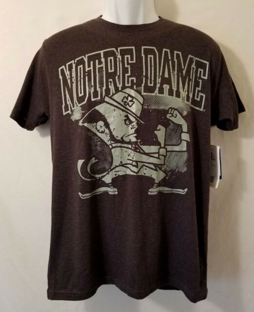 NWT Notre Dame Mens Medium NCAA Fighting Irish S/S Gray T-Shirt Graphic Tee