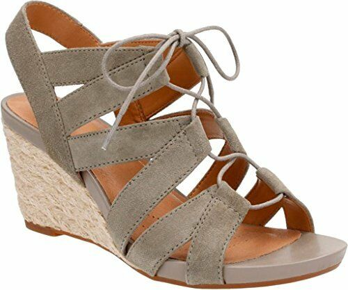 Clarks Artisan Acina Chester Wedge Sandals vert Suede 26126445