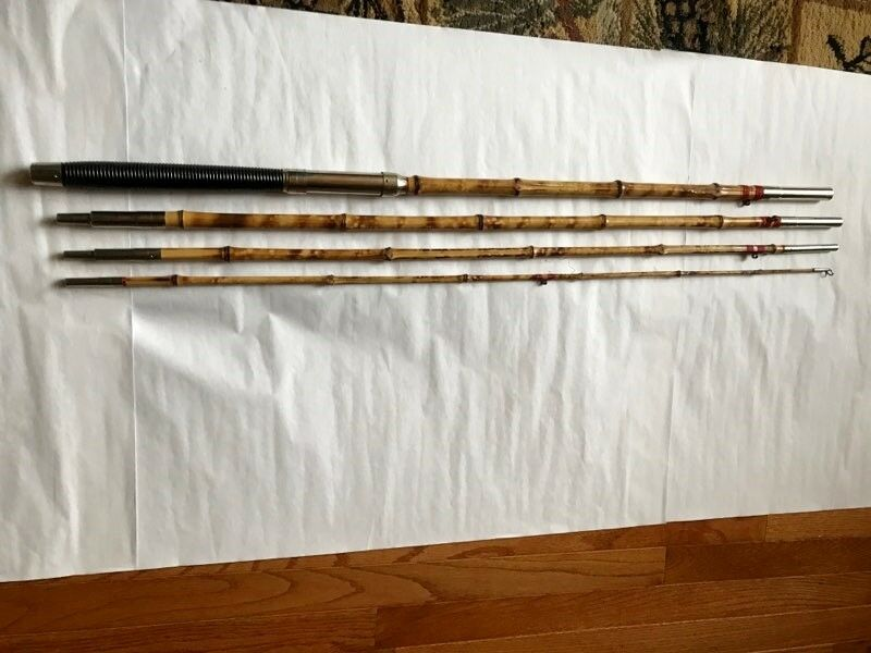Vintage Cane Pole Elite 4 Piece 12+ Feet