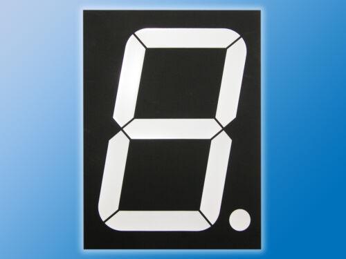 pantalla de 7 segmentos BlancoAltura del icono 203 mmacuerdo con ánodoTamaño extra grande