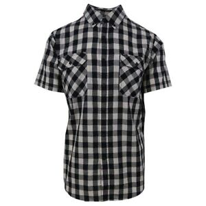 Rip-Curl-Men-039-s-Checkered-S-S-Woven-Shirt-Retail-55