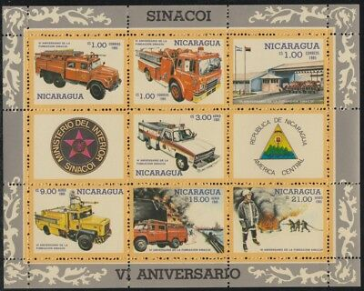 Neueste Kollektion Von Nicaragua Hb 175 1985 Firefighter Kampf Gegen Den Feueralarm Feuerwehr Lkw Sinac Klar Und Unverwechselbar Briefmarken Süd- & Mittelamerika