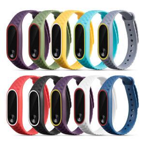 10pcs-Ersatz-Armband-Soft-Silikon-Uhrenarmband-Sport-Strap-fuer-Xiaomi-Mi-Band-2