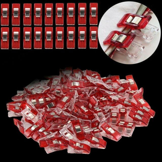 50x Plastic Wonder Clips For Fabric Quilting Craft Sewing Knitting Crochet