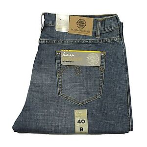 Mens-Big-King-Size-KAM-Jeans-Relaxed-Fit-In-Mid-Blue-Colour-All-Sizes-40-034-T0-60-034