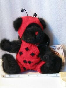 boyds-bears-plush-dressed-as-ladybug-8-034-Lady-B-Bugsley-jointed