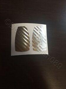 Silber Brush Folie Dekor Schlüssel Mercedes A B C D E G S Klasse AMG 2 Tasten