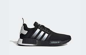 Adidas NMD R1 Gradient Core Black Silver White EG7399 NEW