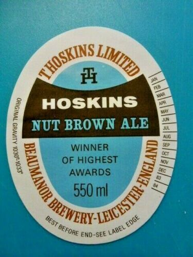1 P/&P COST T.HOSKINS BREWERY.BEER BOTTLE LABEL VARIOUS LABELS FROM £1.20 EACH