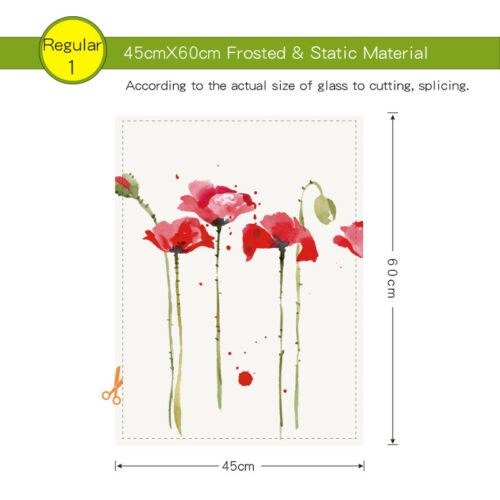Ink Flower Static Cling Glass Window Film Privacy Frosted Opaque Glass Sticker