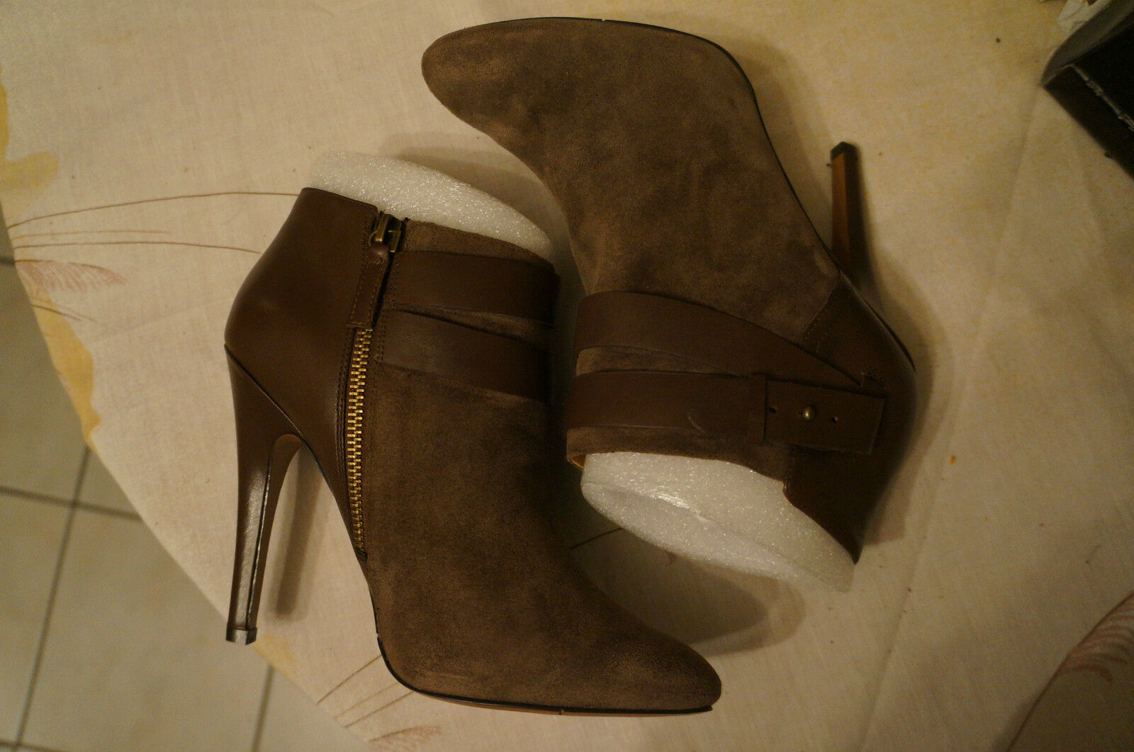 Nine West Brettly, Bottines femme - Marron , 39.5 EU (9 US) ////SOLDE\\ -3