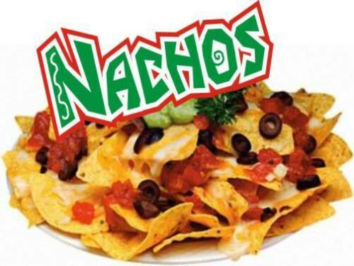 """Concession Decal 10/"""" Nachos Restaurant Food Catering"""