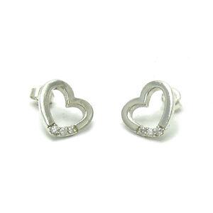 Sterling-Silber-Ohrringe-Herzen-mit-Zirkonia-massiv-punziert-925-handgefertigt